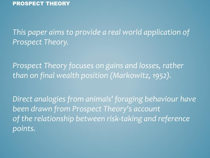 This paper aims to provide a real world application of