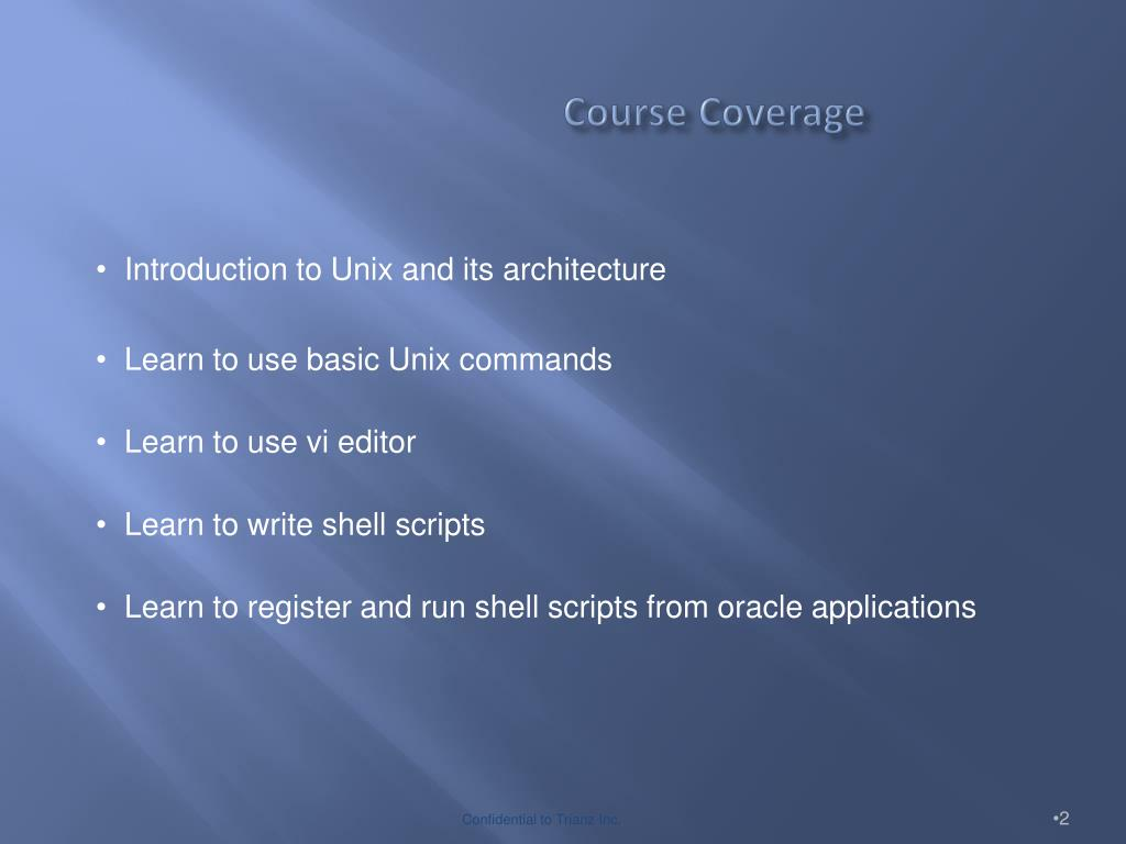 PPT - Introduction to UNIX and Shell Scripting PowerPoint