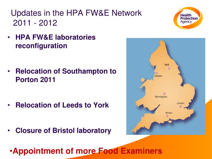 Updates in the HPA FW&E Network