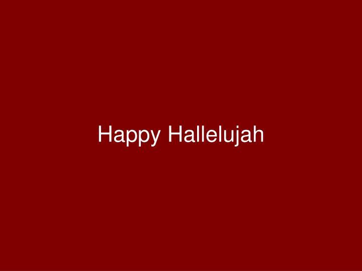 happy hallelujah n.