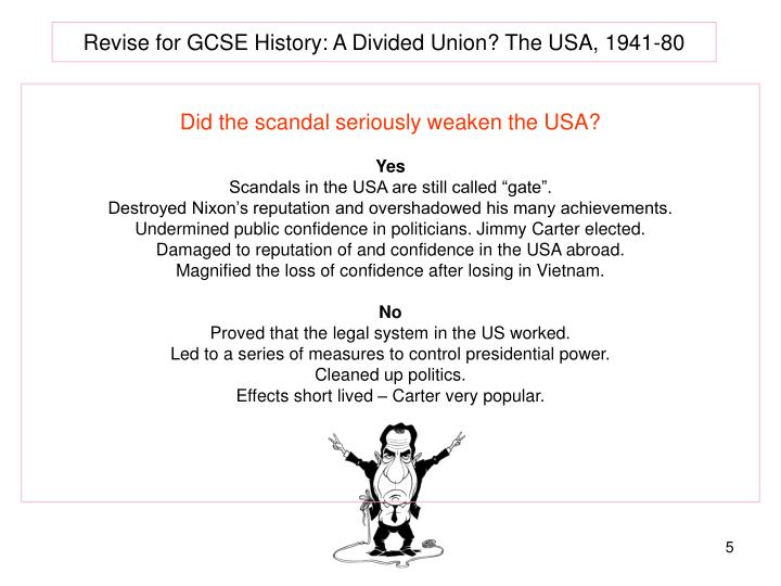 Revise for GCSE History: A Divided Union? The USA, 1941-80