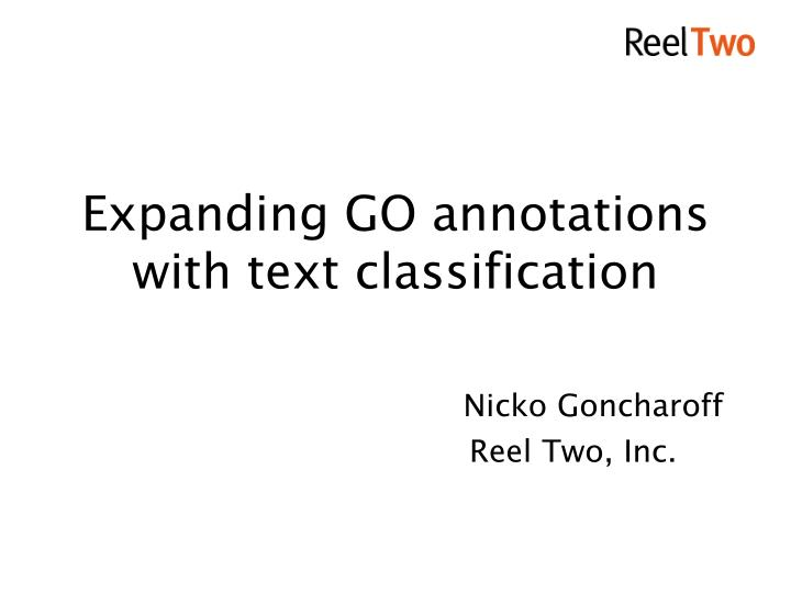 expanding go annotations with text classification n.