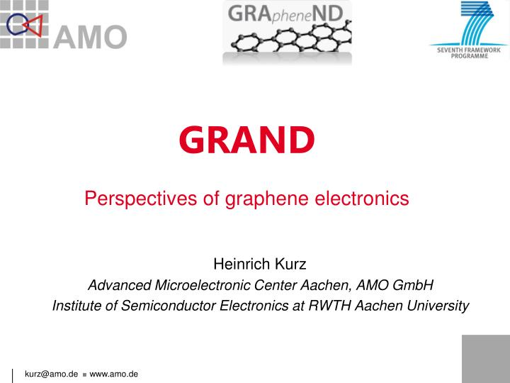 Grand perspectives of graphene electronics