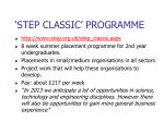 step classic programme