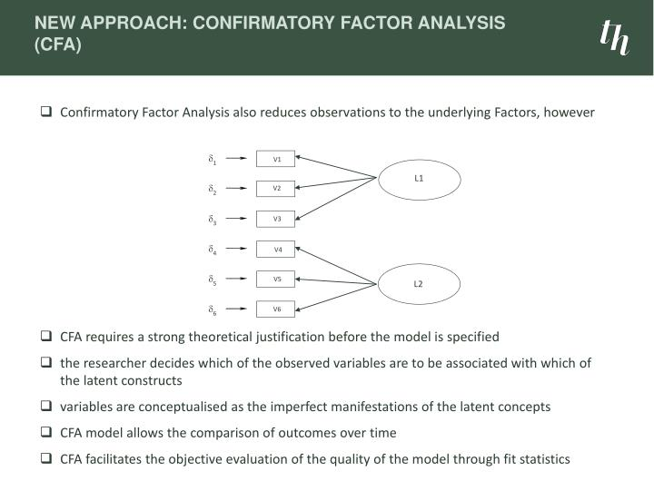 New Approach: Confirmatory Factor Analysis (CFA)