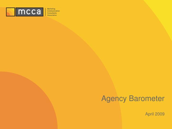 Agency barometer