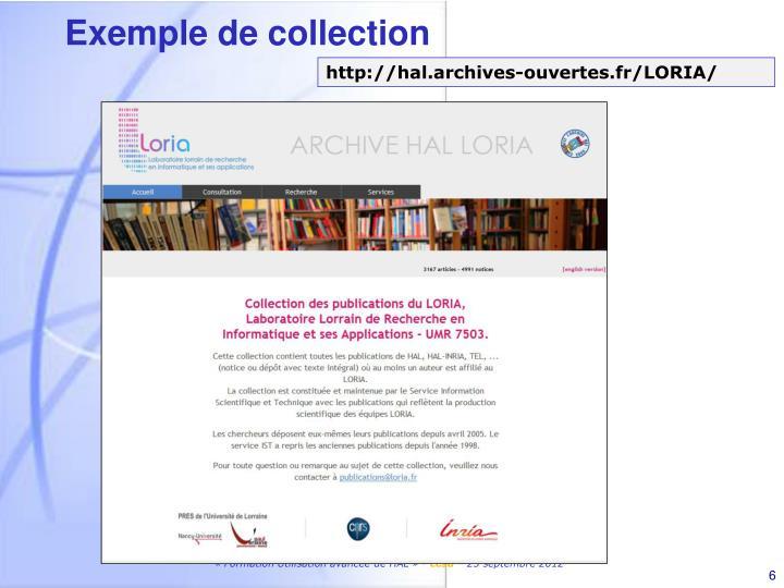 Exemple de collection