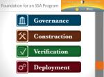 foundation for an ssa program
