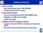 caltech ptier2 i