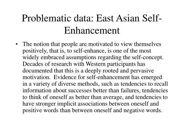 Problematic data: East Asian Self-Enhancement