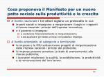 cosa proponeva il manifesto per un nuovo patto sociale sulla produttivit e la crescita