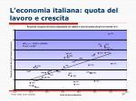 l economia italiana quota del lavoro e crescita