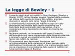 la legge di bowley 1