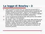 la legge di bowley 2