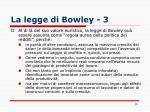 la legge di bowley 3