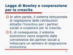 legge di bowley e cooperazione per la crescita1