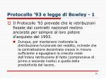 protocollo 93 e legge di bowley 1