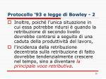 protocollo 93 e legge di bowley 2