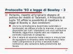 protocollo 93 e legge di bowley 3