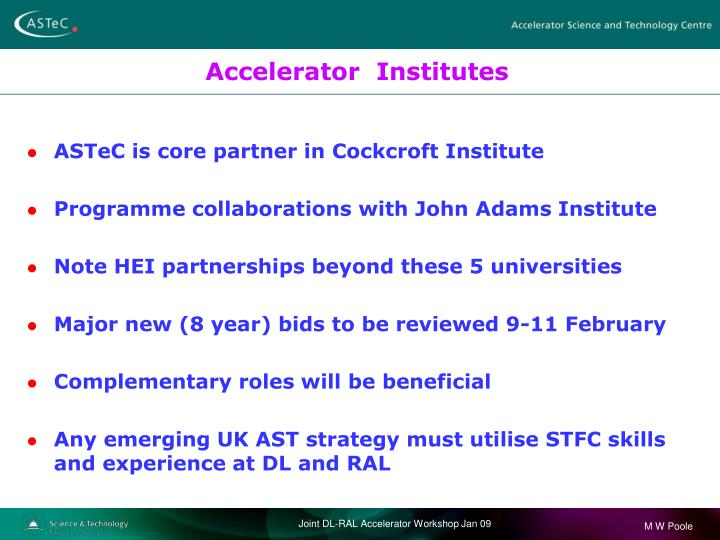 Accelerator  Institutes