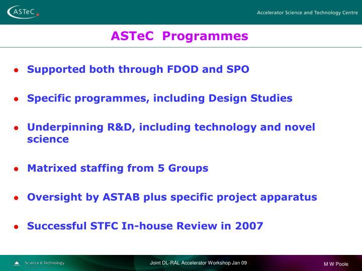 ASTeC  Programmes