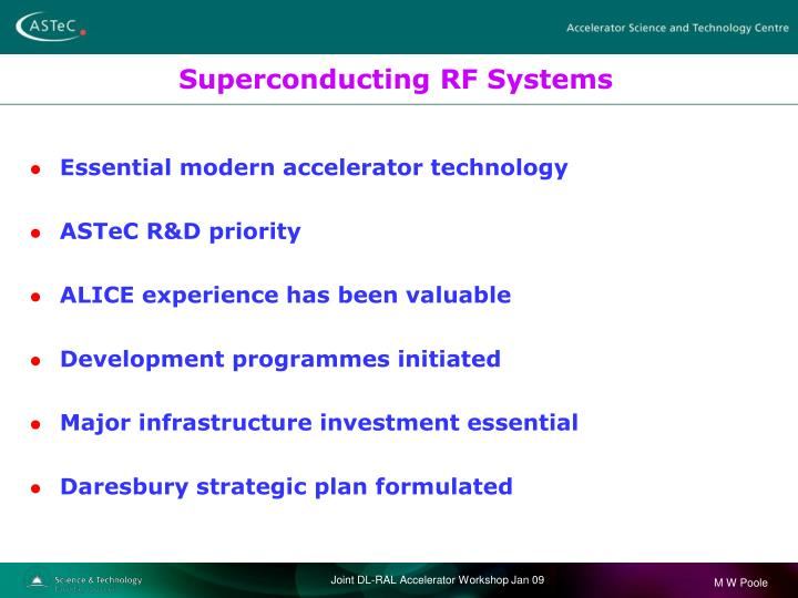 Superconducting RF Systems