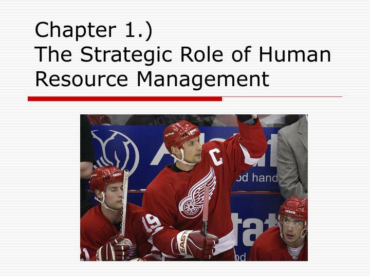 chapter 1 the strategic role of human resource management n.