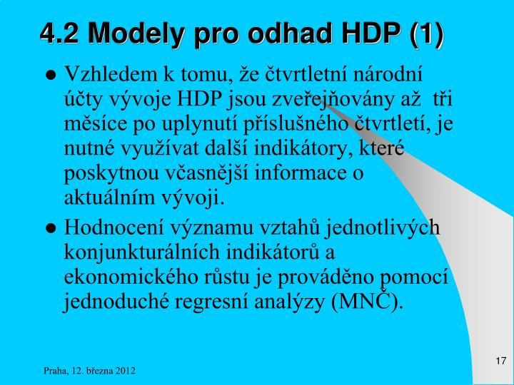 4.2 Modely pro odhad HDP (1)
