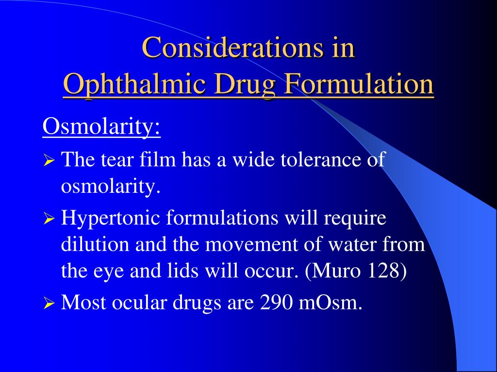 PPT - Ophthalmic Drug Considerations PowerPoint Presentation - ID