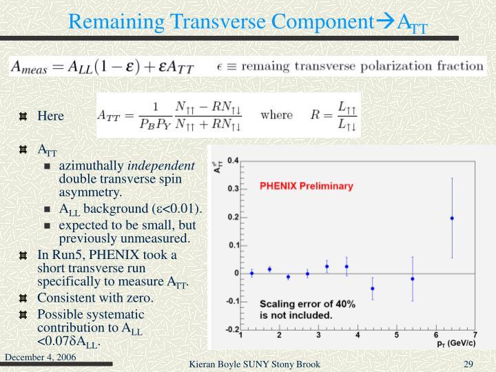 Remaining Transverse Component