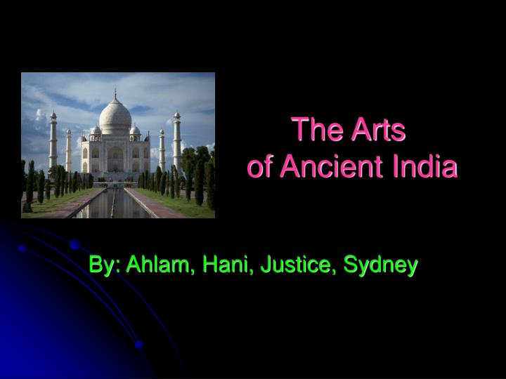 the arts of ancient india n.