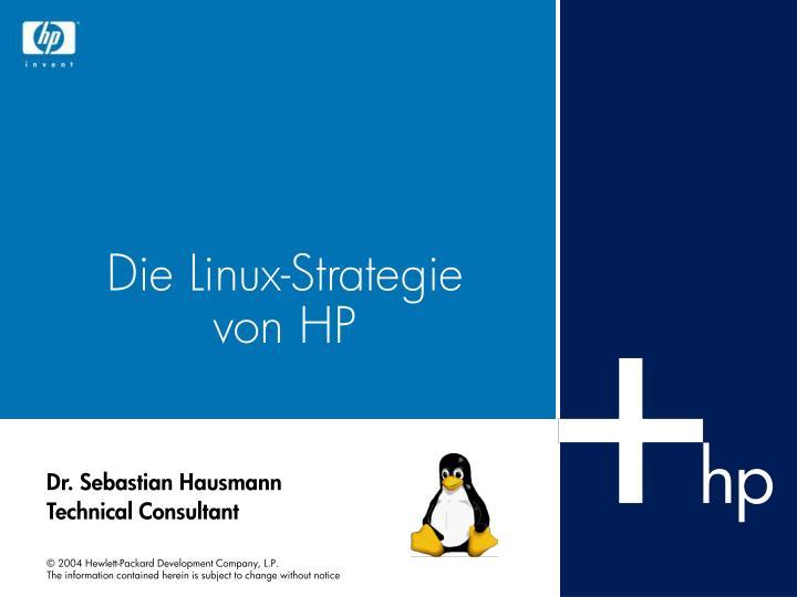 Die linux strategie von hp