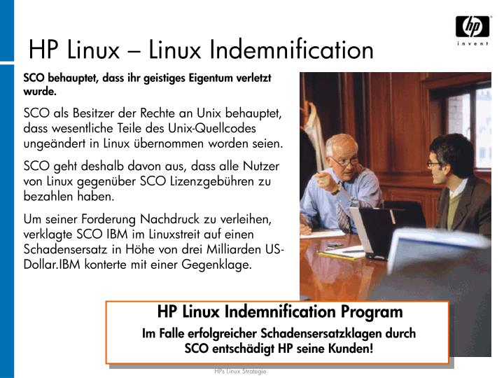 HP Linux – Linux Indemnification
