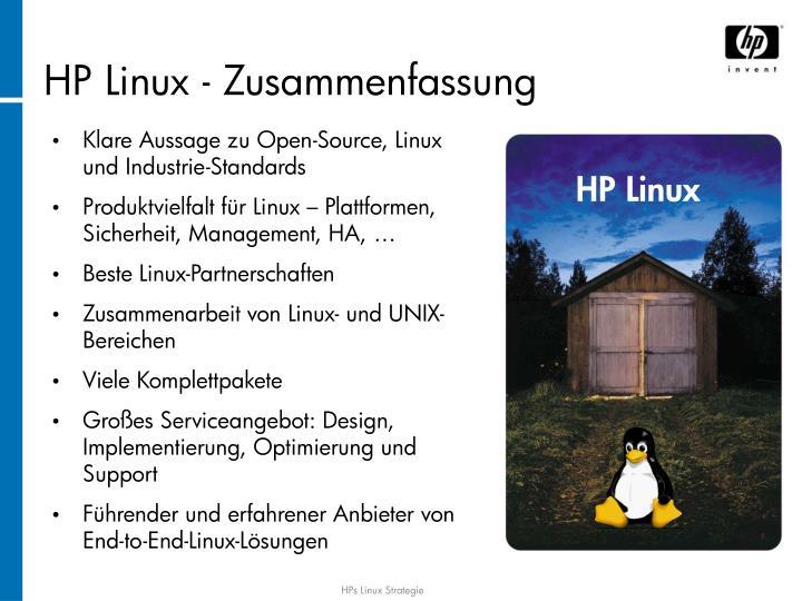 HP Linux - Zusammenfassung