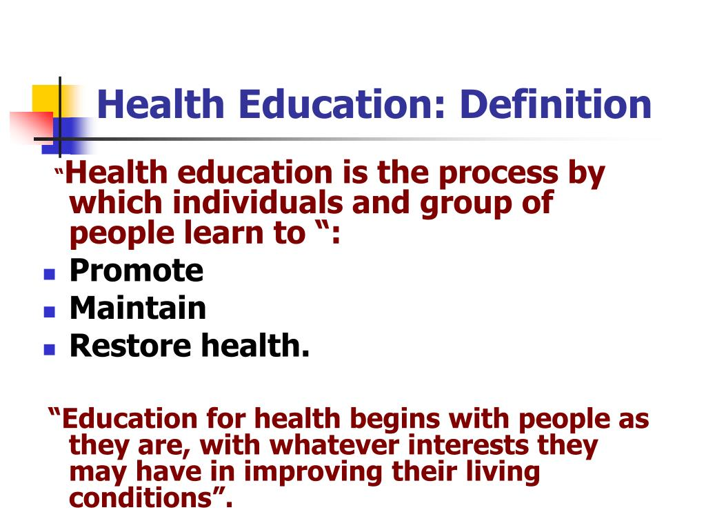 PPT - HEALTH EDUCATION AND HEALTH PROMOTION PowerPoint ...