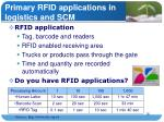 primary rfid applications in logistics and scm