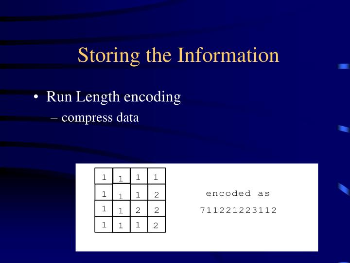 Storing the Information