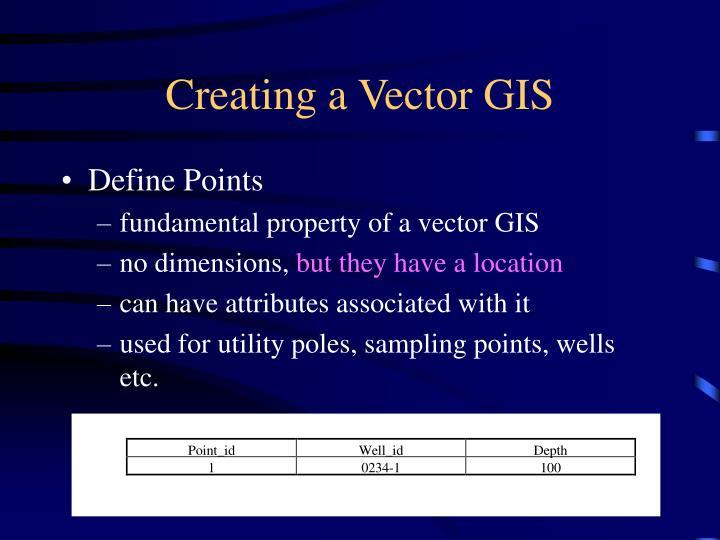 Creating a Vector GIS