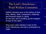 the lord s storehouse ward welfare committee2