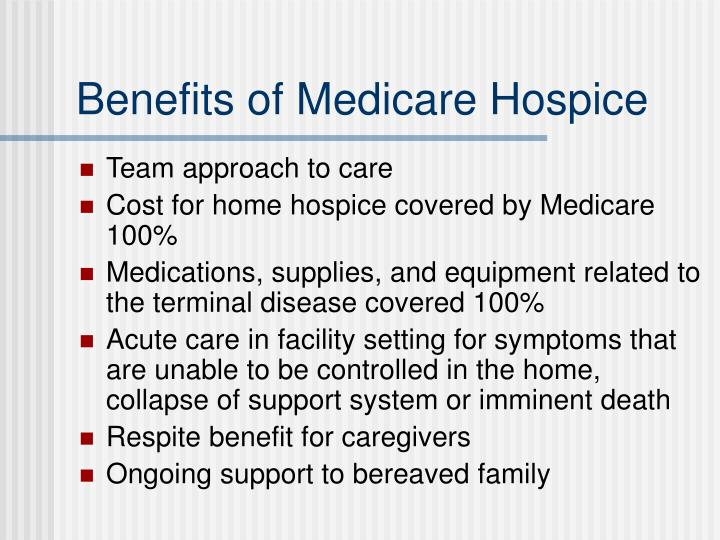 Benefits of Medicare Hospice