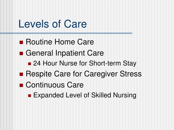 Levels of Care