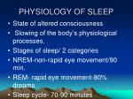 physiology of sleep