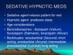 sedative hypnotic meds