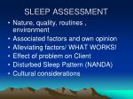 sleep assessment