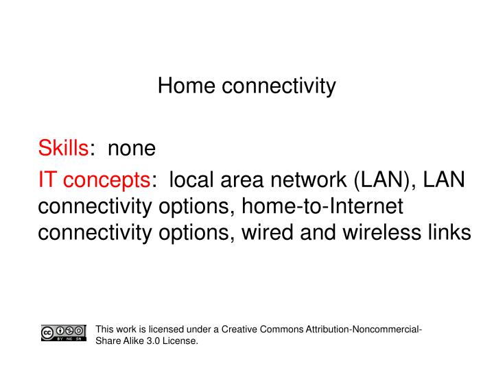home connectivity n.