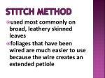 stitch method