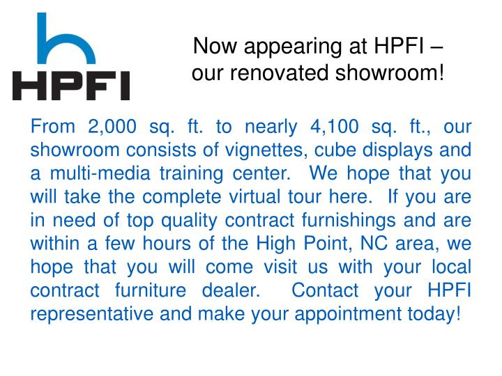 Now appearing at HPFI –