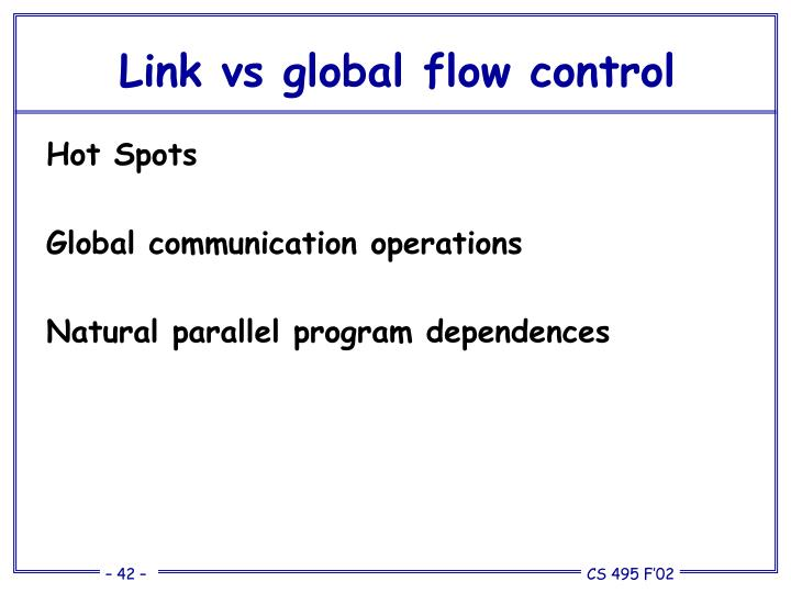 Link vs global flow control