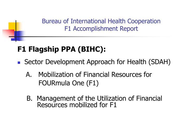 bureau of international health cooperation f1 accomplishment report n.