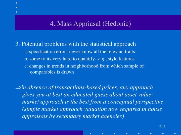 4. Mass Appriasal (Hedonic)